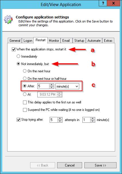Delay Restarting Dropbox
