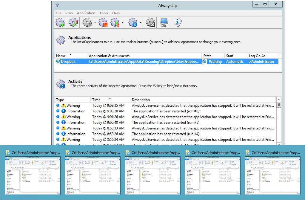 Many Dropbox Explorer Windows