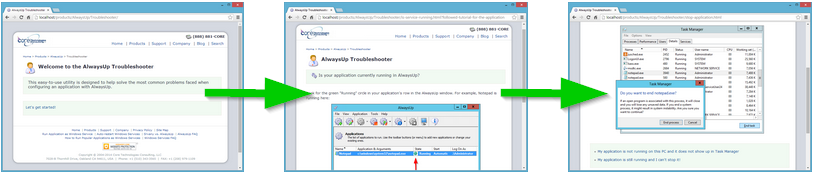 AlwaysUp Troubleshooter