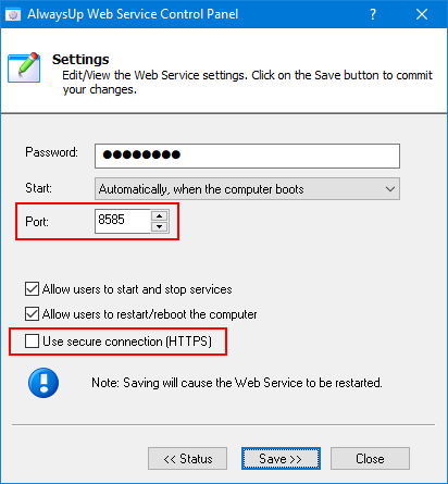 Verify port and protocol settings