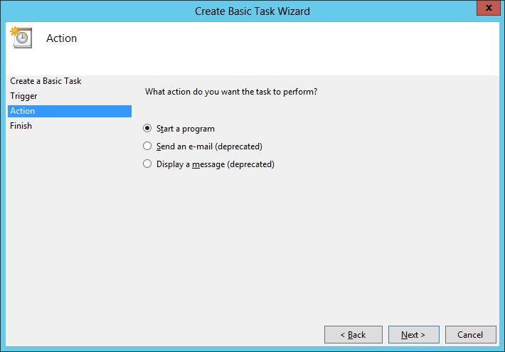 Create Basic Task: Start a Program