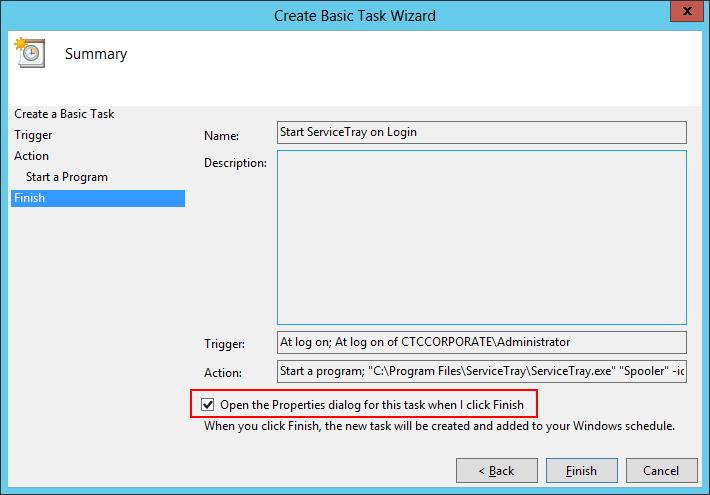 Create Basic Task: Finish