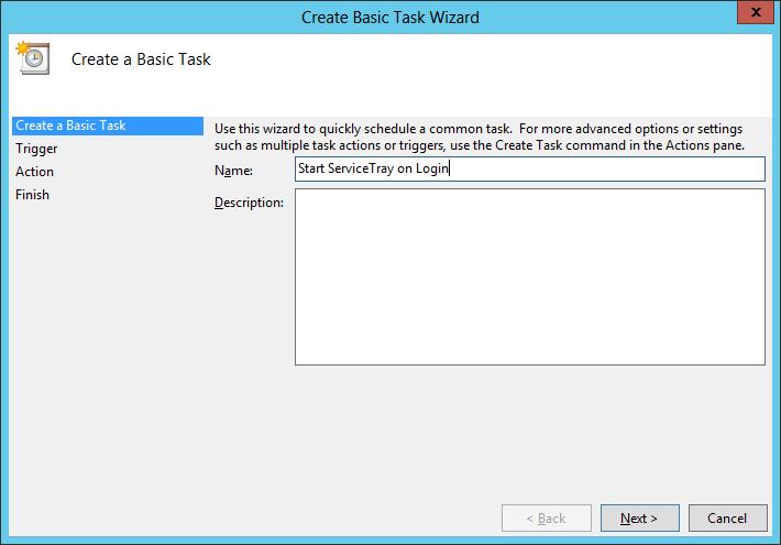 Create Basic Task: Name