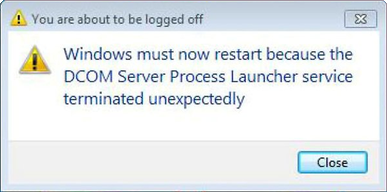 DCOM Server Process Launcher service terminated