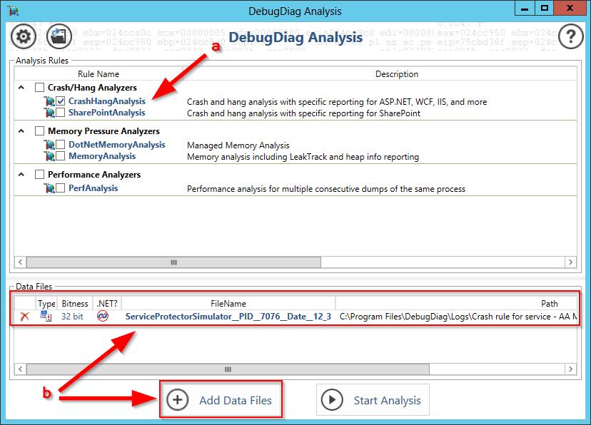 Configure Analysis