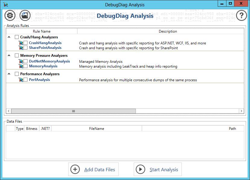 DebugDiag Analysis Started