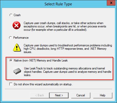 Find Windows Service Memory Leaks