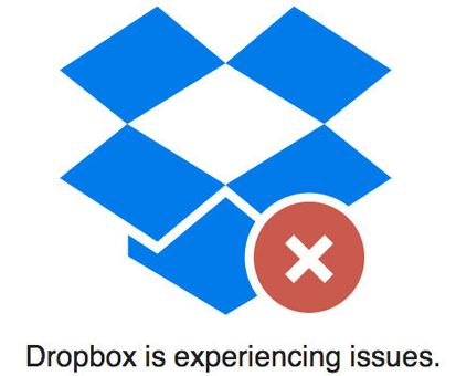 Dropbox is experiencing issues