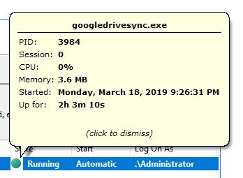 Googledrivesync.exe process information