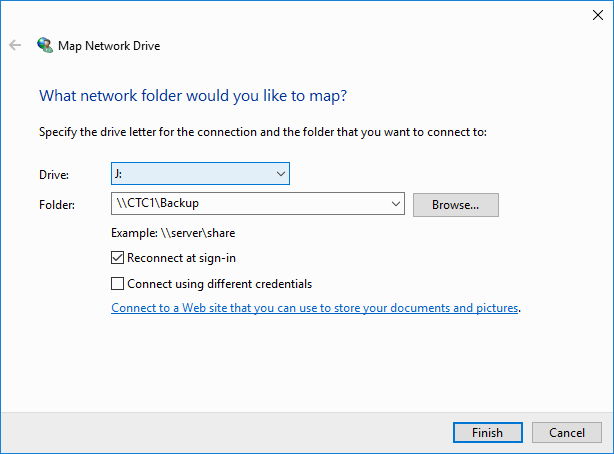 Mapping a Network Drive