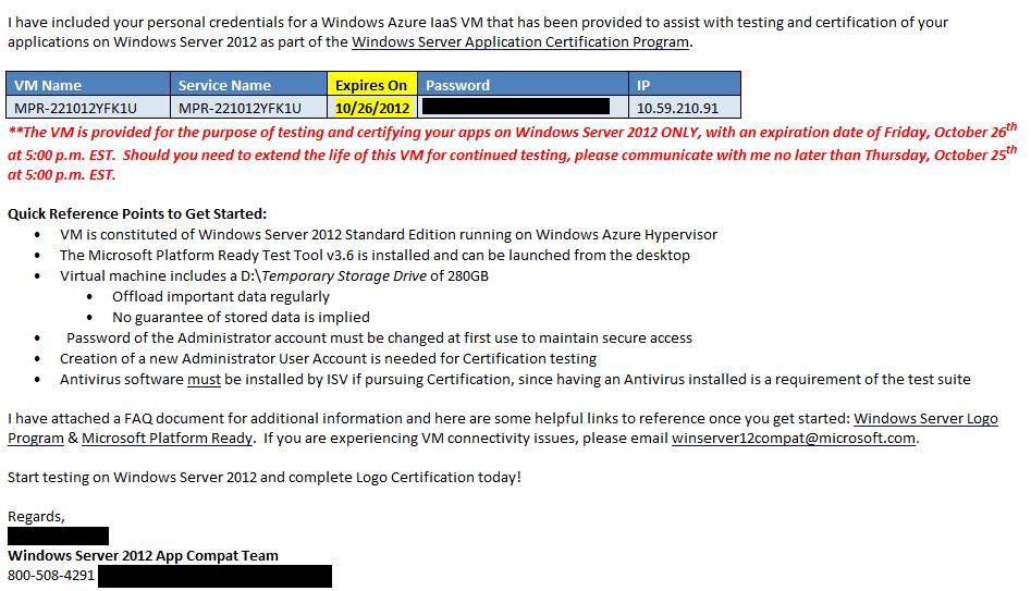 Windows Server 2012 Certification Thanks Microsoft The Core