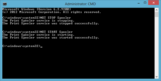 Starting/stopping a service with the NET Command