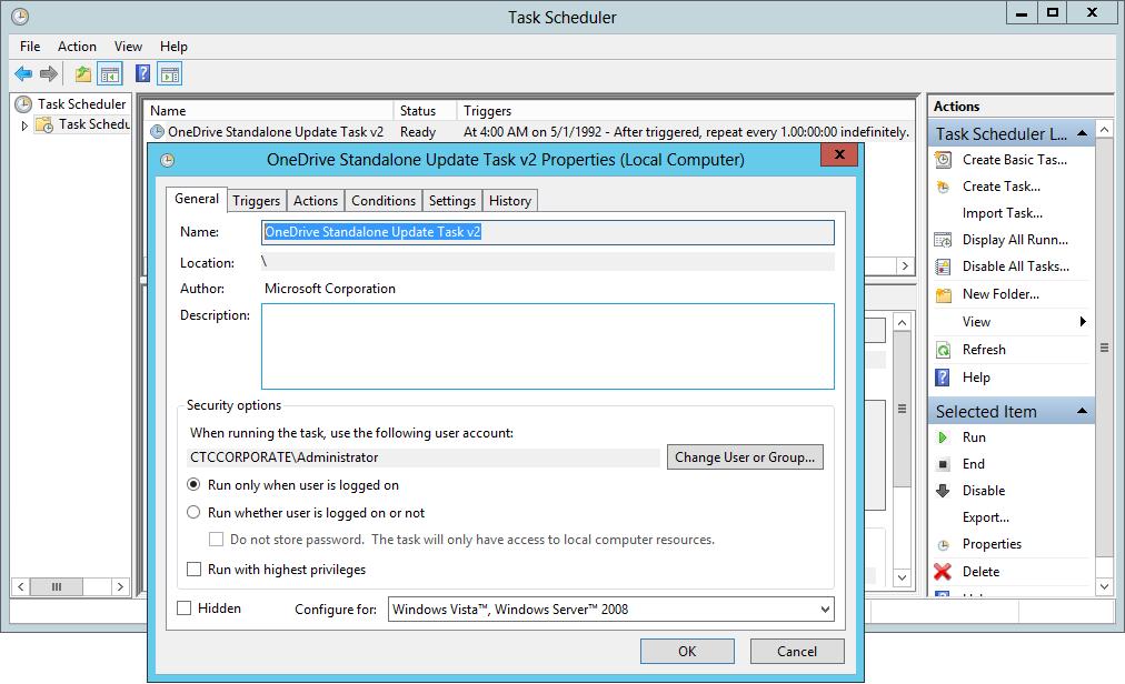 OneDrive Standalone Update Task