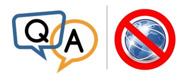 Q & A - No Internet