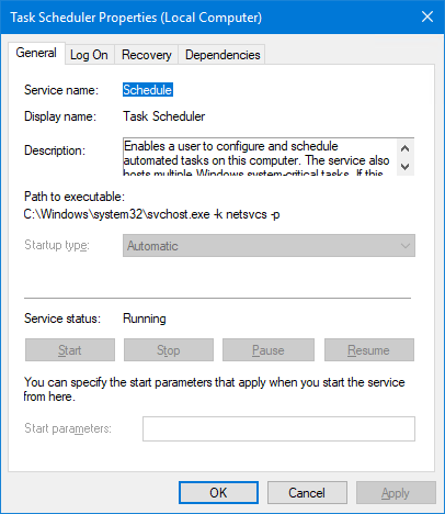 Schedule Windows Service