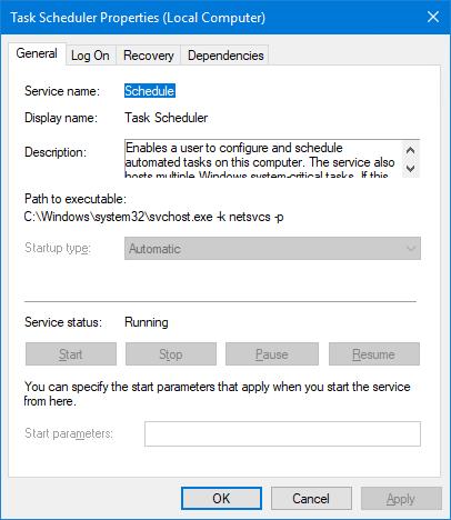 Schedule Windows Service
