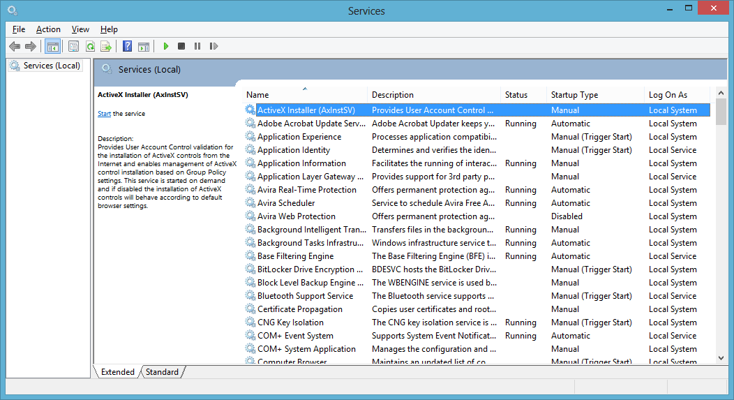 The Windows Services Application