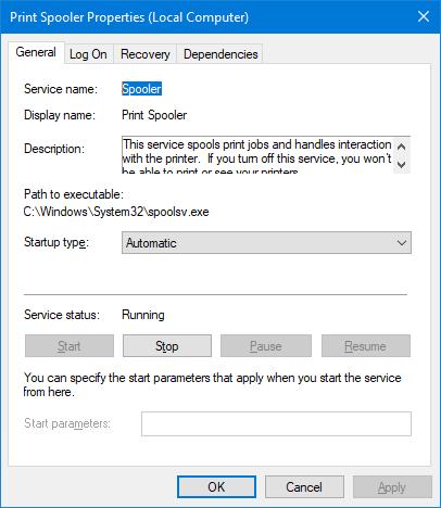 Spooler Windows Service