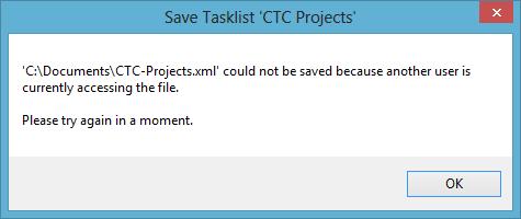 Tasklist Save Error