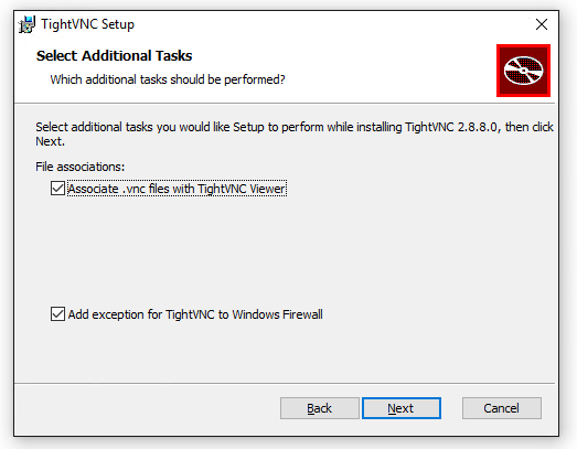 TightVNC Viewer Install: Additional Tasks
