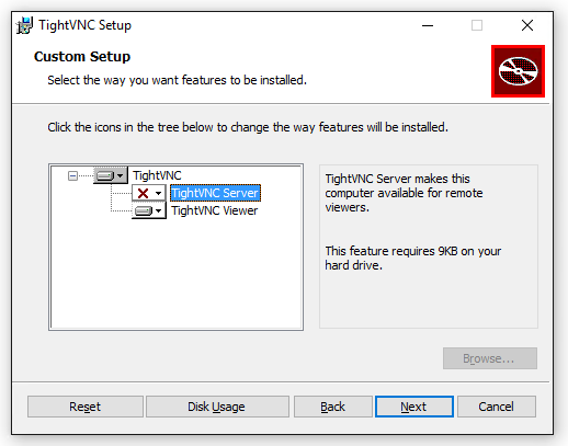 TightVNC Viewer Install: Select Viewer
