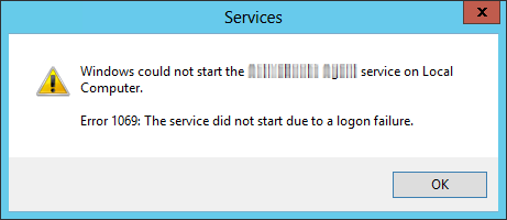 Windows service failed to start