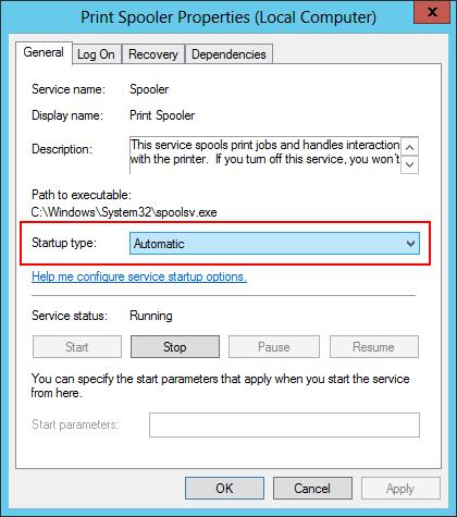 Windows Service - Automatic Startup Type