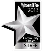 Windows IT Pro Best Utility 2013 Silver Medal