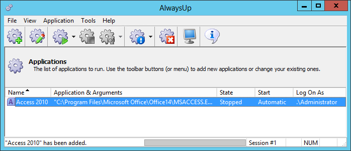 How to run MS Access 2010 as a Windows Service (8/2012/7