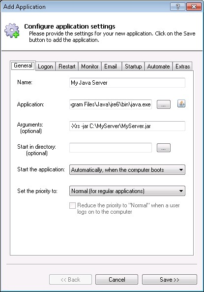 How to Run any Java application as a Windows Service (8/2012/7/2008