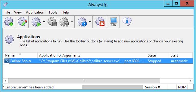 How to Run Calibre Server as a Windows Service | AlwaysUp
