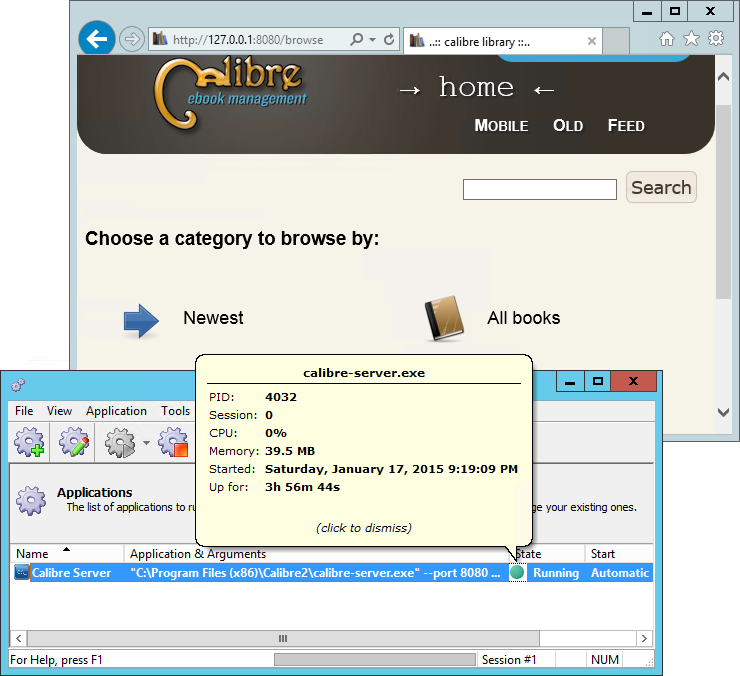 How to Run Calibre Server as a Windows Service | AlwaysUp
