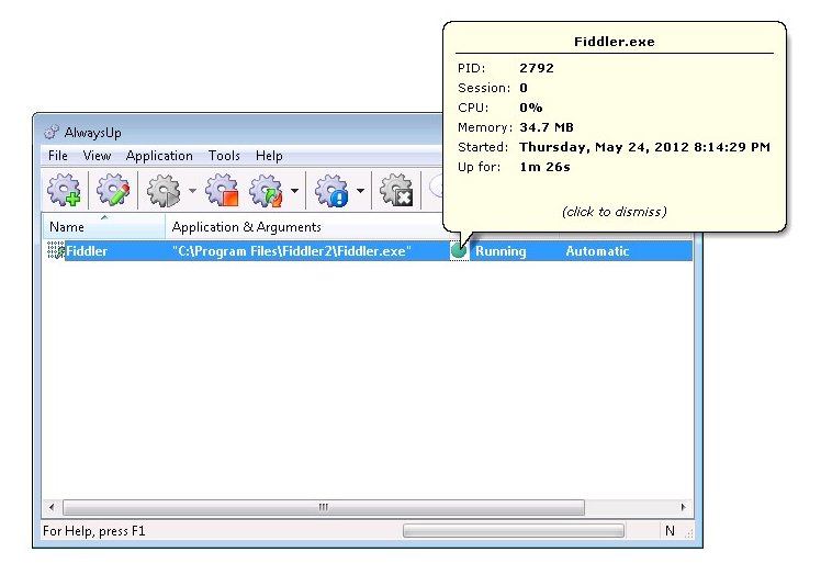 How to run Fiddler as a Windows Service (7/2008/Vista/2003/XP