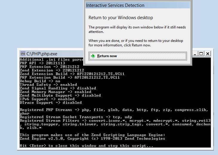 How to run any PHP Script as a Windows Service (8/2012/7