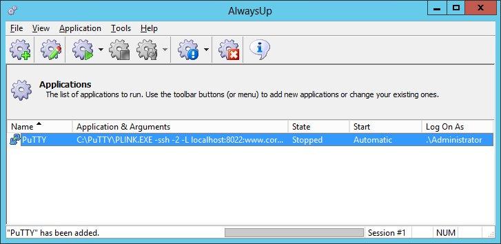 How to Run PuTTY as a Windows Service (8/2012/7/2008/Vista