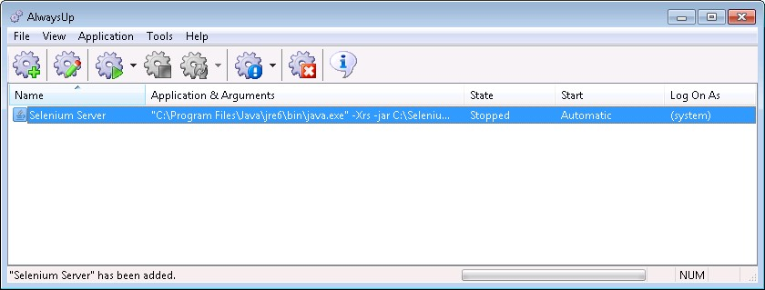 How to run Selenium RC Server as a Windows Service (7/2008/Vista