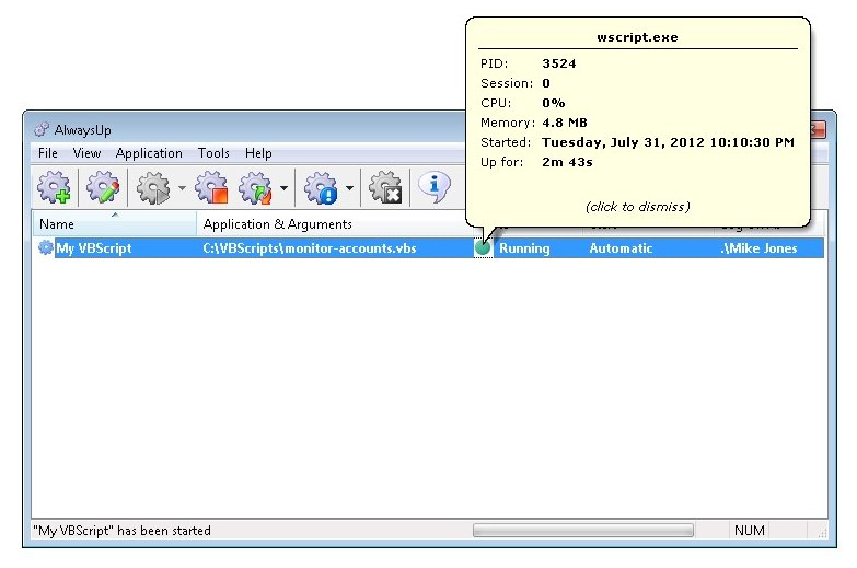 How to run any VBScript (* VBS) as a Windows 8/20127/2008