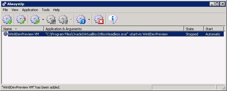 VirtualBox Windows Service: Created