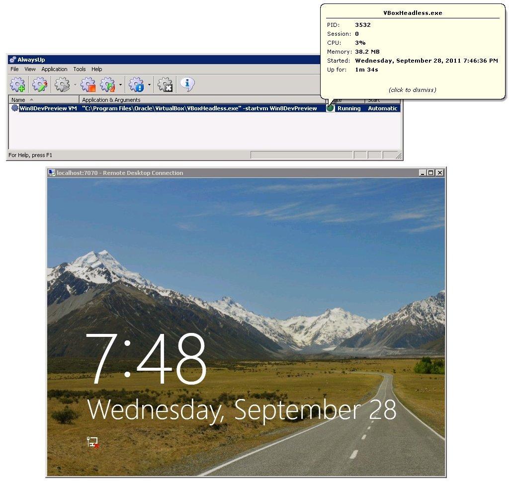 VirtualBox Windows Service: Running