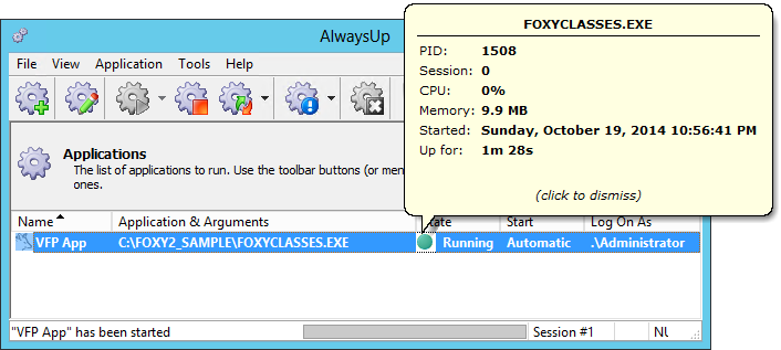How to run any Visual FoxPro program as a Windows Service (8