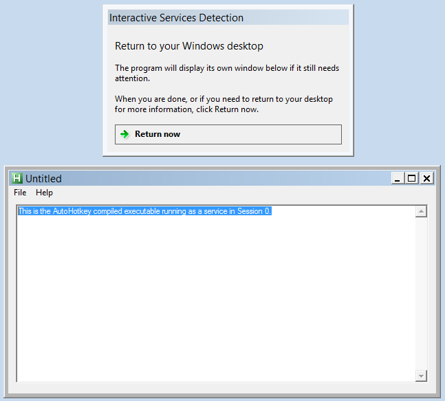 How to run an AutoHotkey executable as a Windows Service