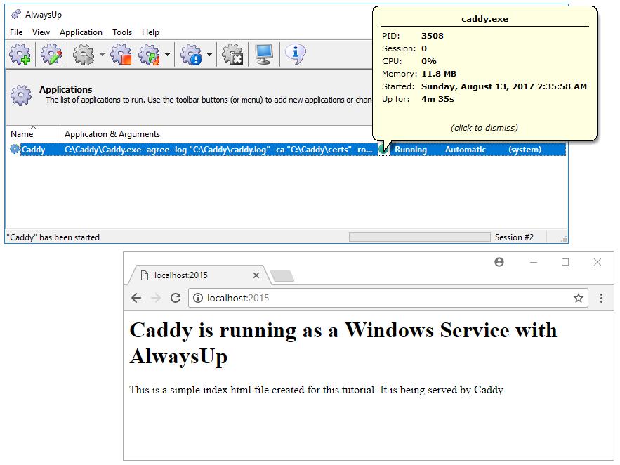 How to Setup Caddy as a Windows Service | AlwaysUp