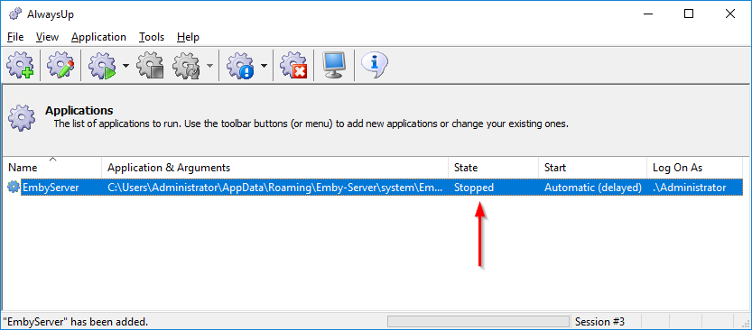 How to Launch Emby Server as a Windows Service | AlwaysUp