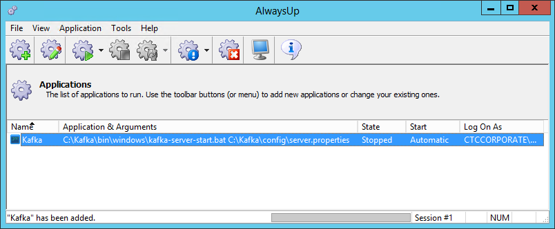 How to Run Apache Kafka as a Windows Service