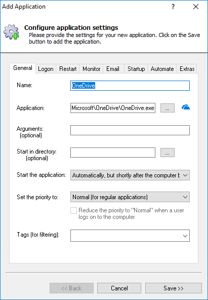 How to Run OneDrive as a Windows Service (2019/10/2016/8