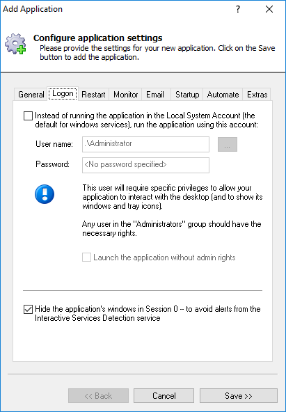 How to Start STAF automatically as a Windows Service