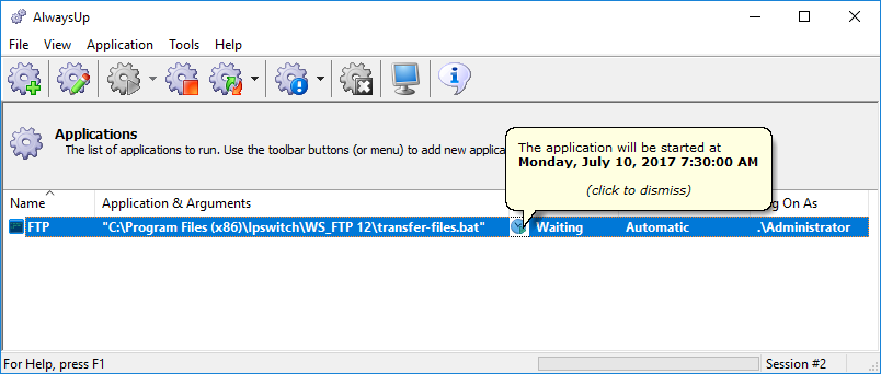 How to Run WS FTP Pro as a Windows Service | AlwaysUp