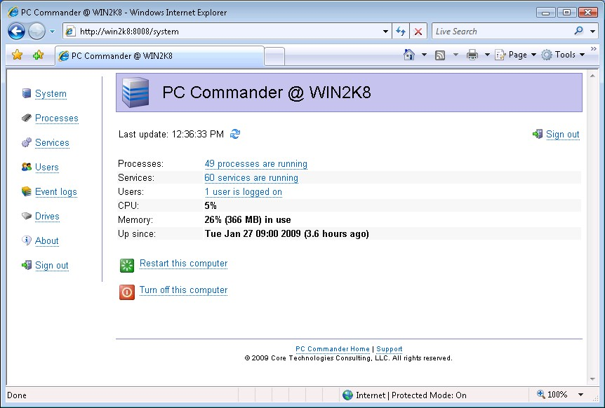 Click to view PC Commander 3.0 screenshot