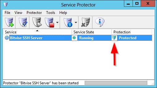Automatically Restart Bitvise SSH Server Windows Service