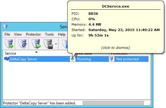 Monitor DeltaCopy Rsync Windows Service
